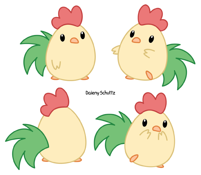 Chibi rooster by daieny. Mail clipart cutie