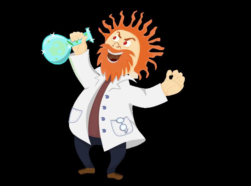 Mad clipart evil person. Cartoon research scientist clip