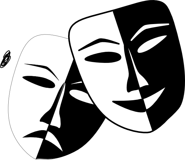 Hippo clipart mask. Theatre masks clip art