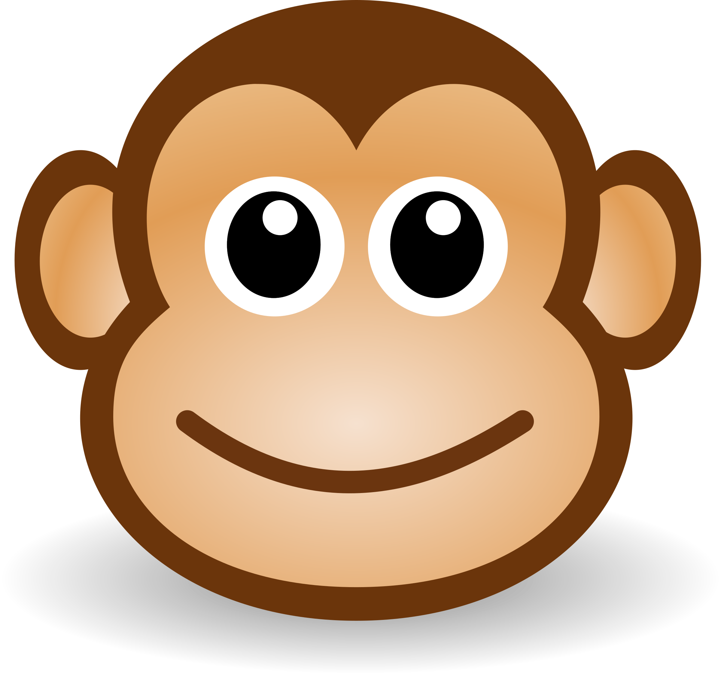 Monkeys clipart chicken. Funny monkey face big