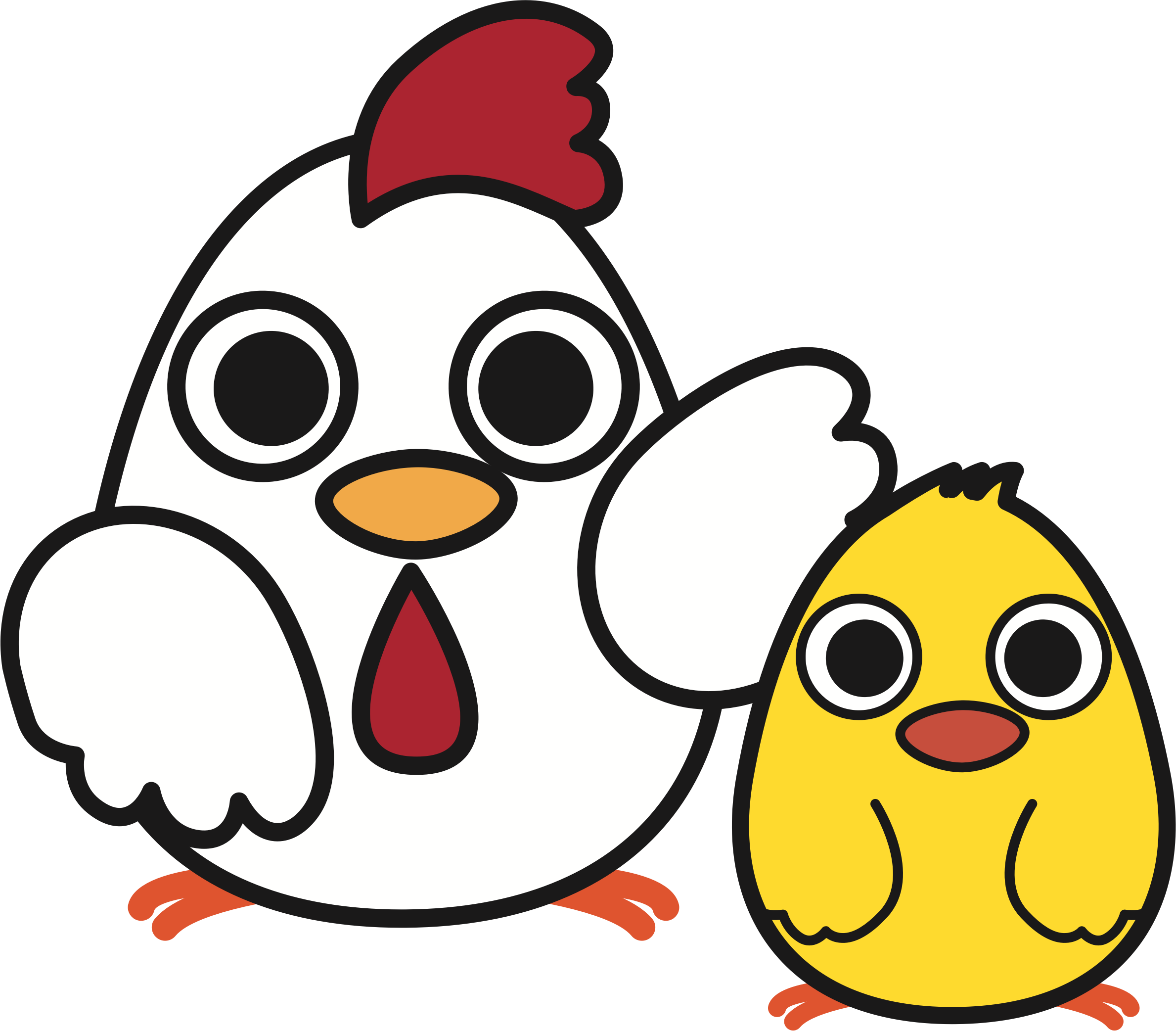 Mother clipart chicken. With chick big image
