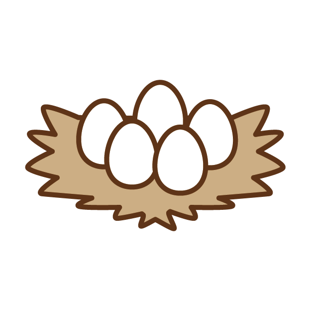Egg clip art transprent. Nest clipart chicken
