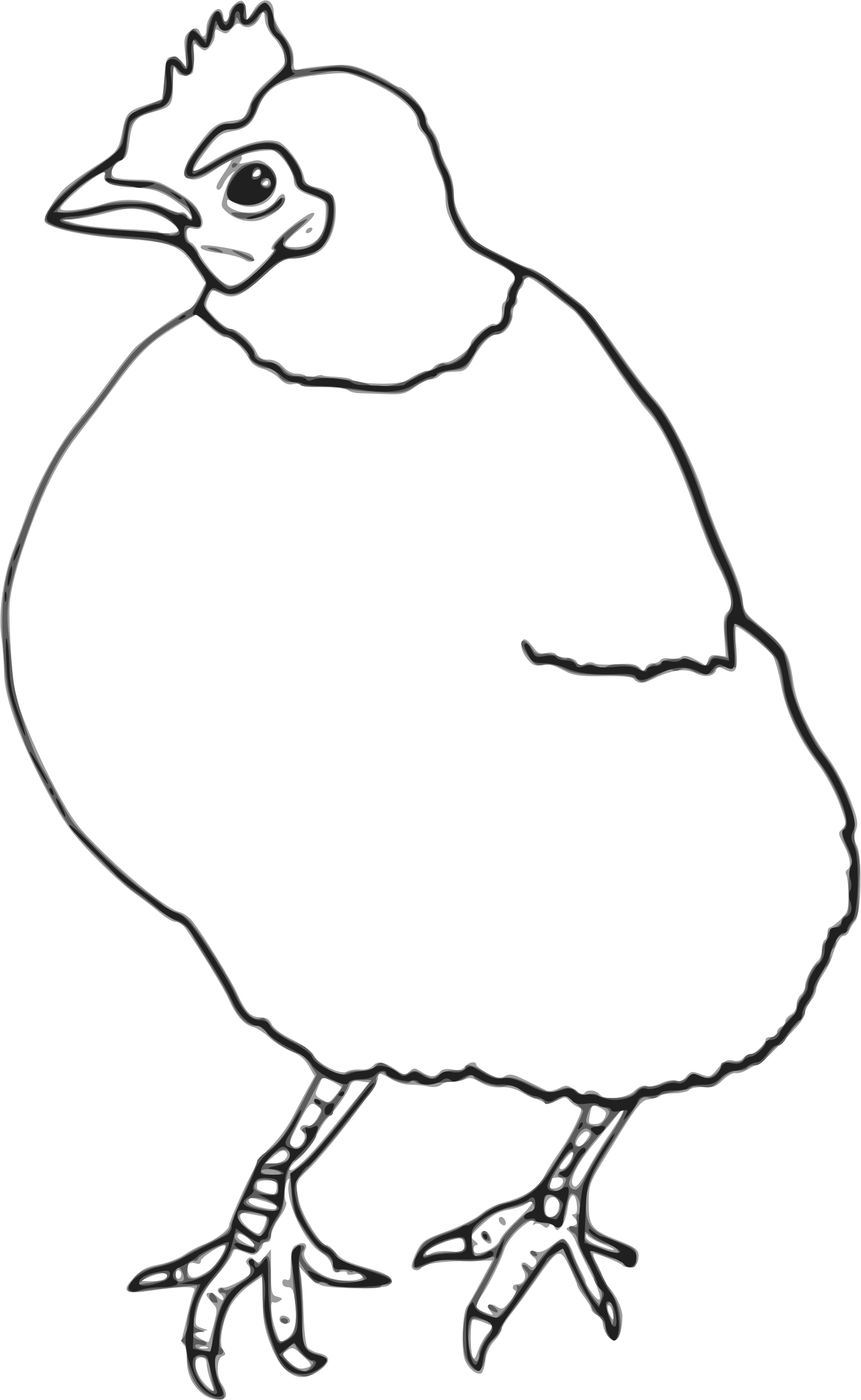 Hen clipart drawing. Outline big image png