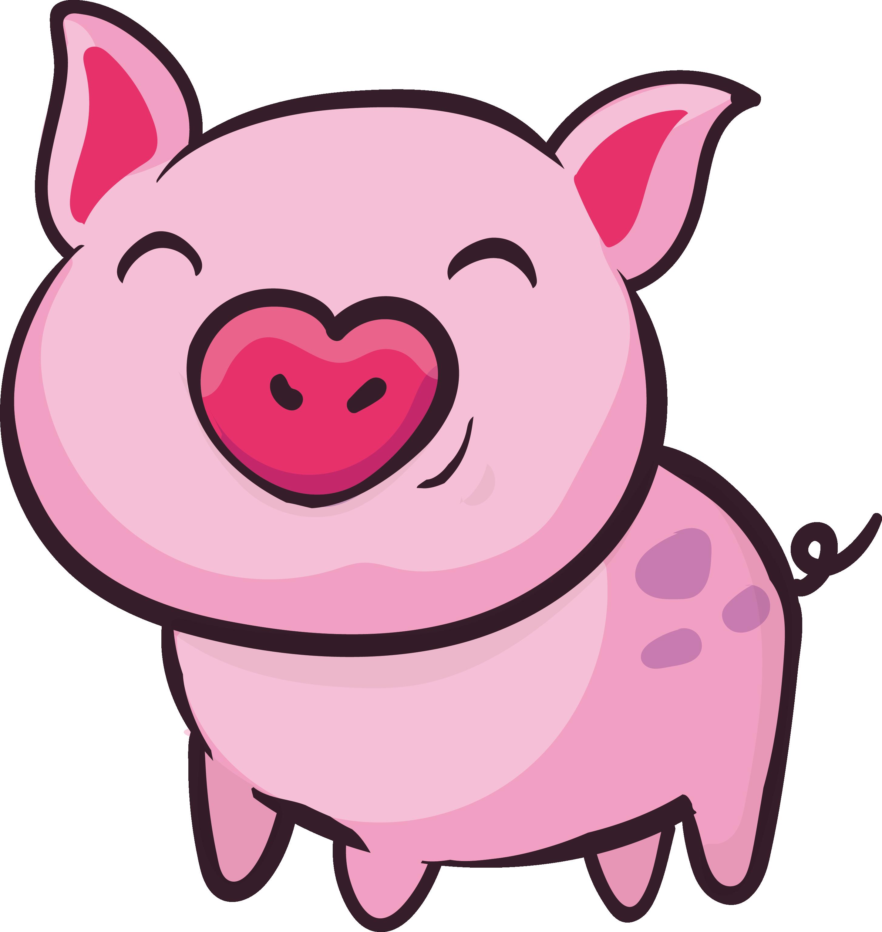 Ham clipart pig. Domestic clip art pink