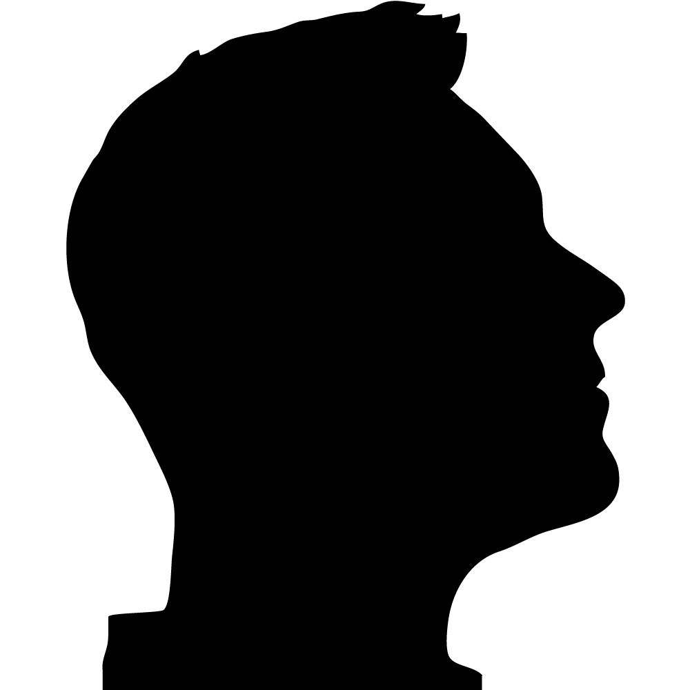 Black profile silhouette at. Young clipart young gentleman