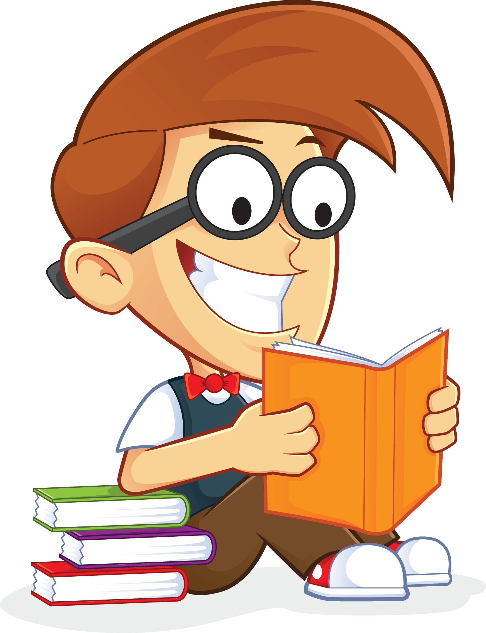 Free geek reading book. Nerd clipart pencil