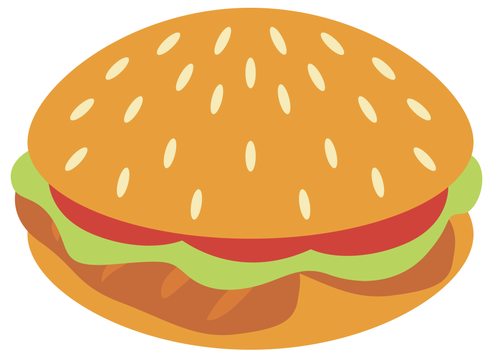 Clipart food exercise. View chicken burger png