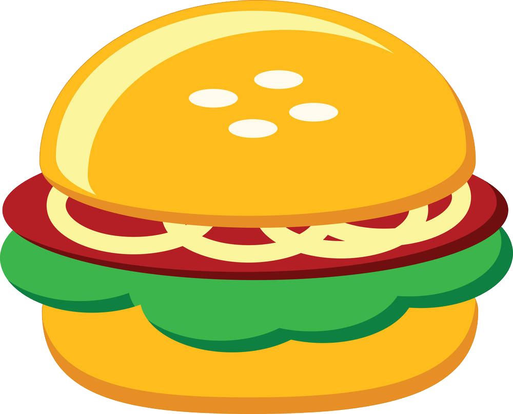 Clipart chicken sandwhich. Hamburger fast food sandwich