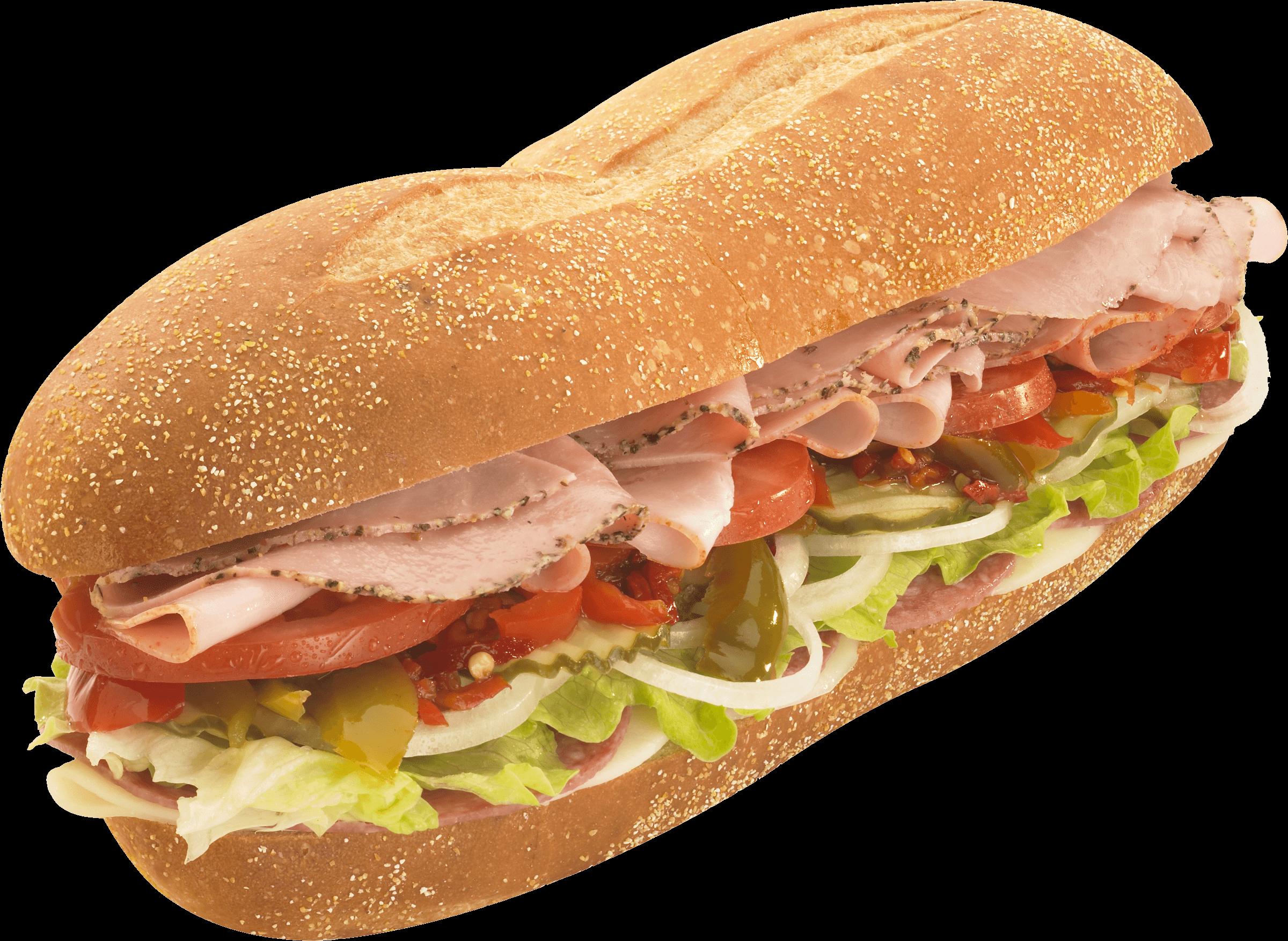 Sandwich top view png. Submarine clipart transparent background