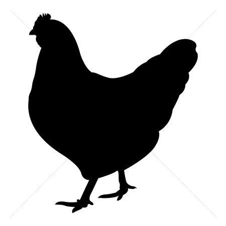 Hen clipart silhouette. Fresh chicken clip art