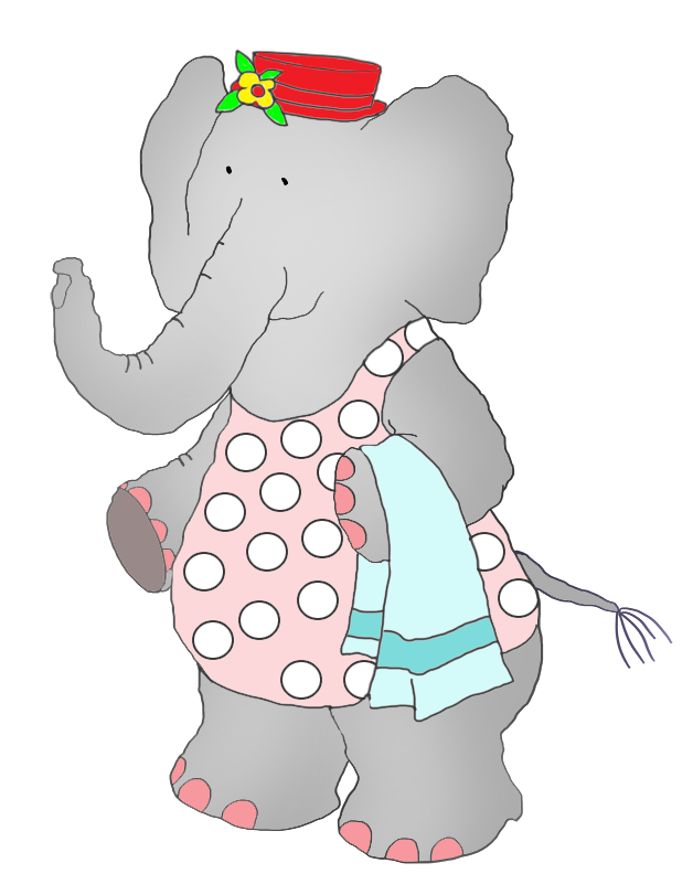 Manatee clipart christmas. Elephant in swim suit