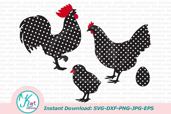 Rooster file baby chick. Clipart chicken svg