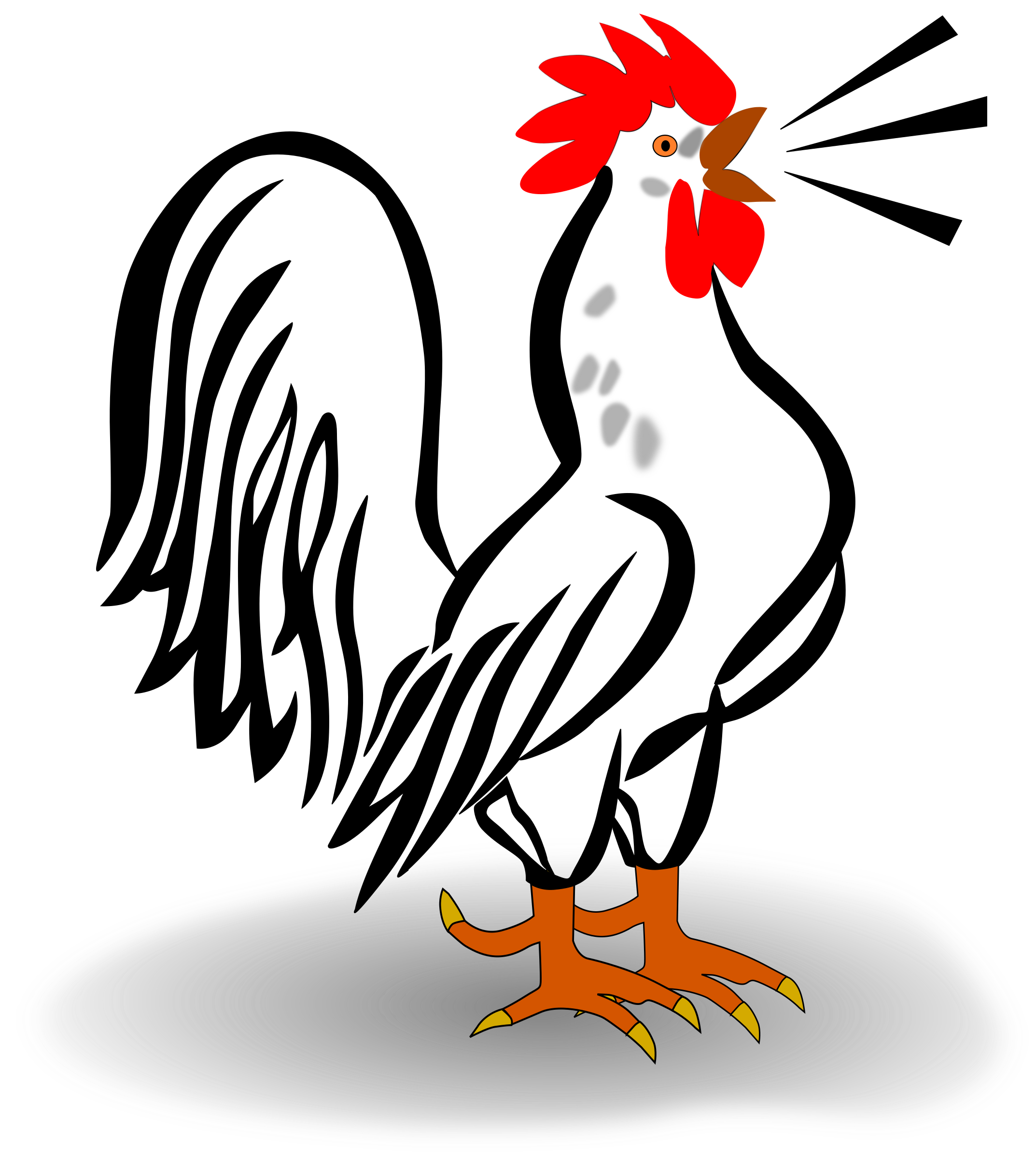 Clipart chicken tail. Hahn big image png