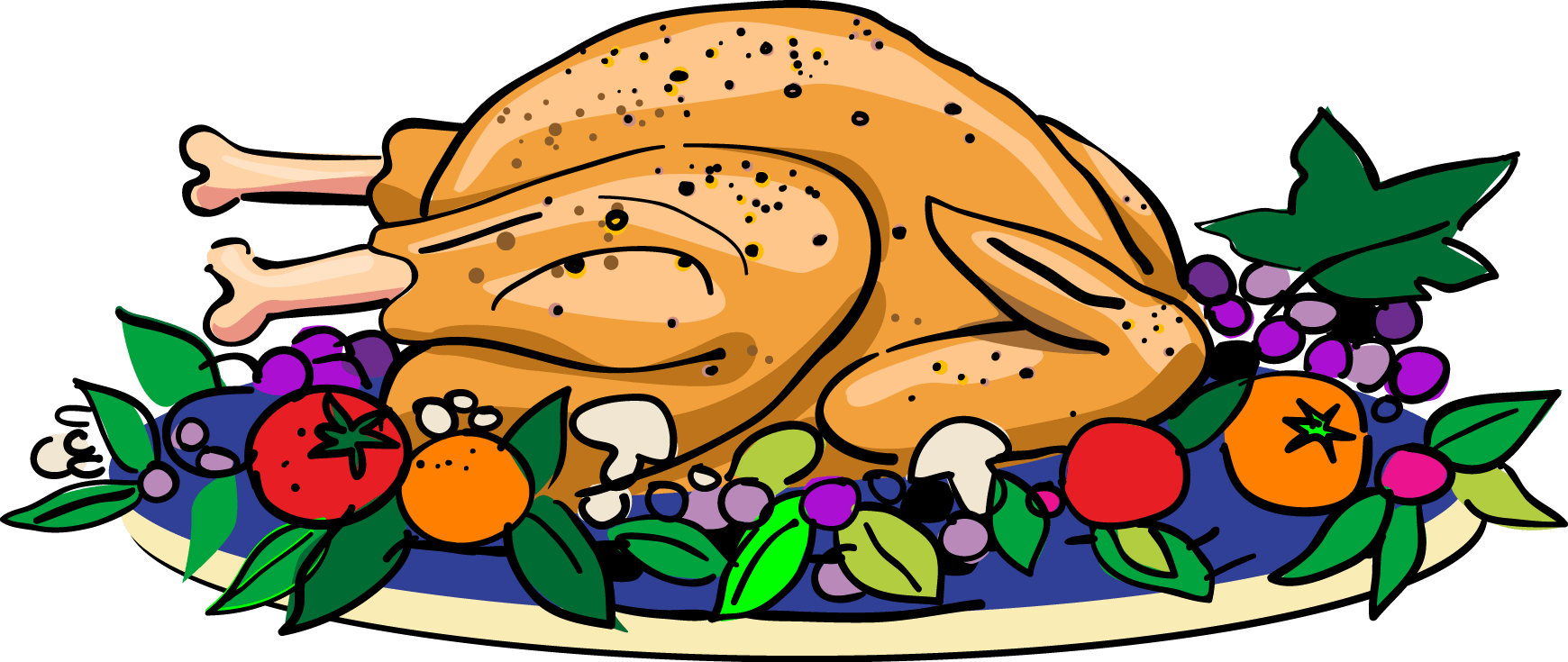 collection of drawing. Dinner clipart chicken vegetable