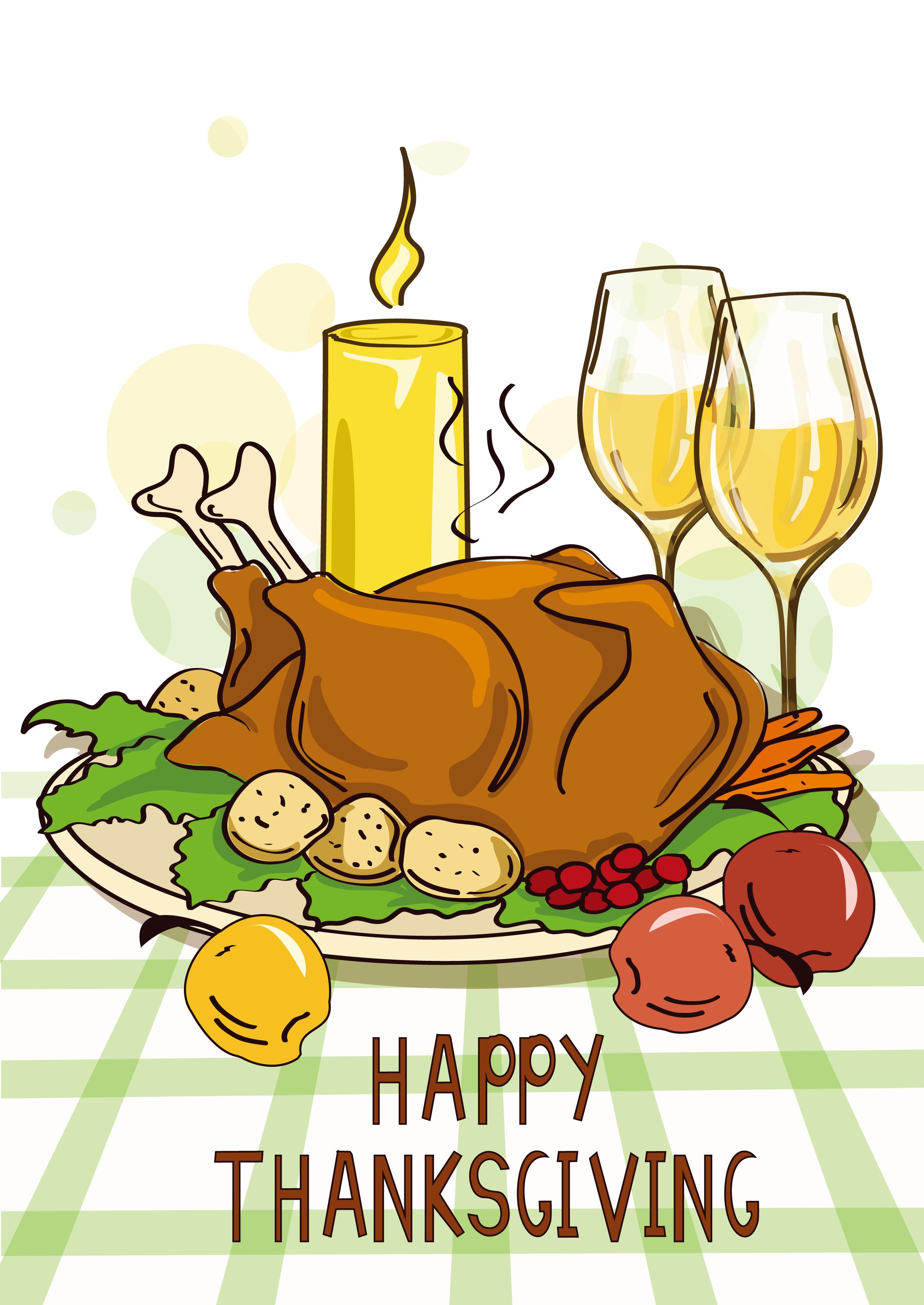 Turkey meat dinner cartoon. Clipart chicken thanksgiving