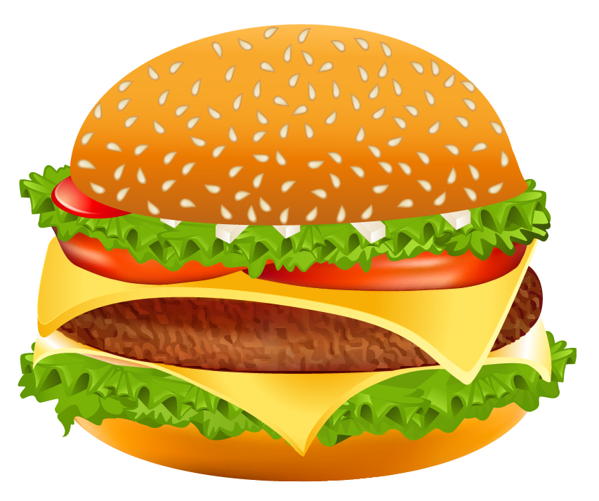 Hamburger png vector image. Burger clipart clear background