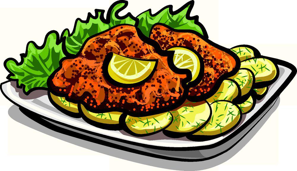 Wiener schnitzel chicken kiev. Grill clipart fourth july food