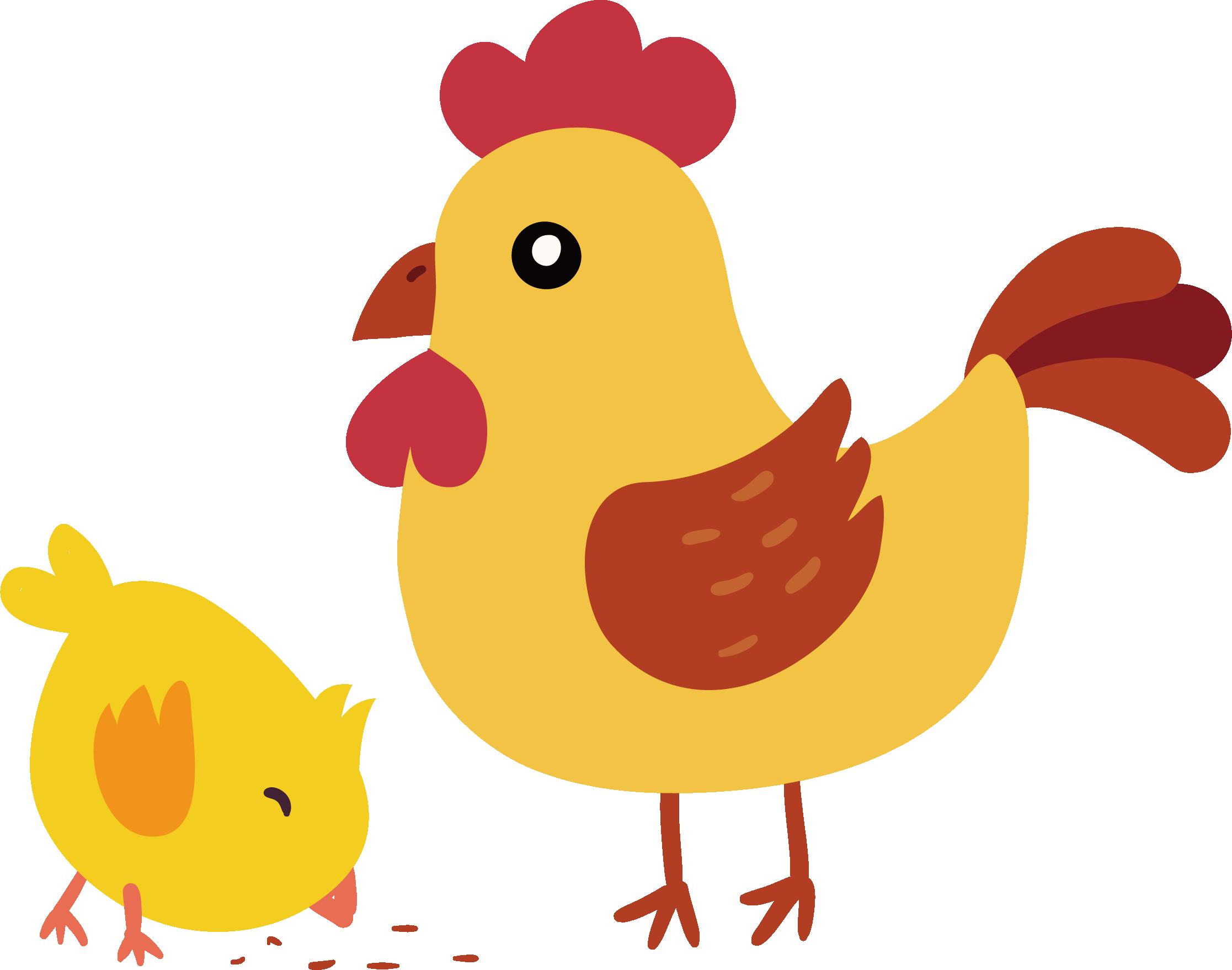 Hen clipart orange chicken. Yellow hair little euclidean