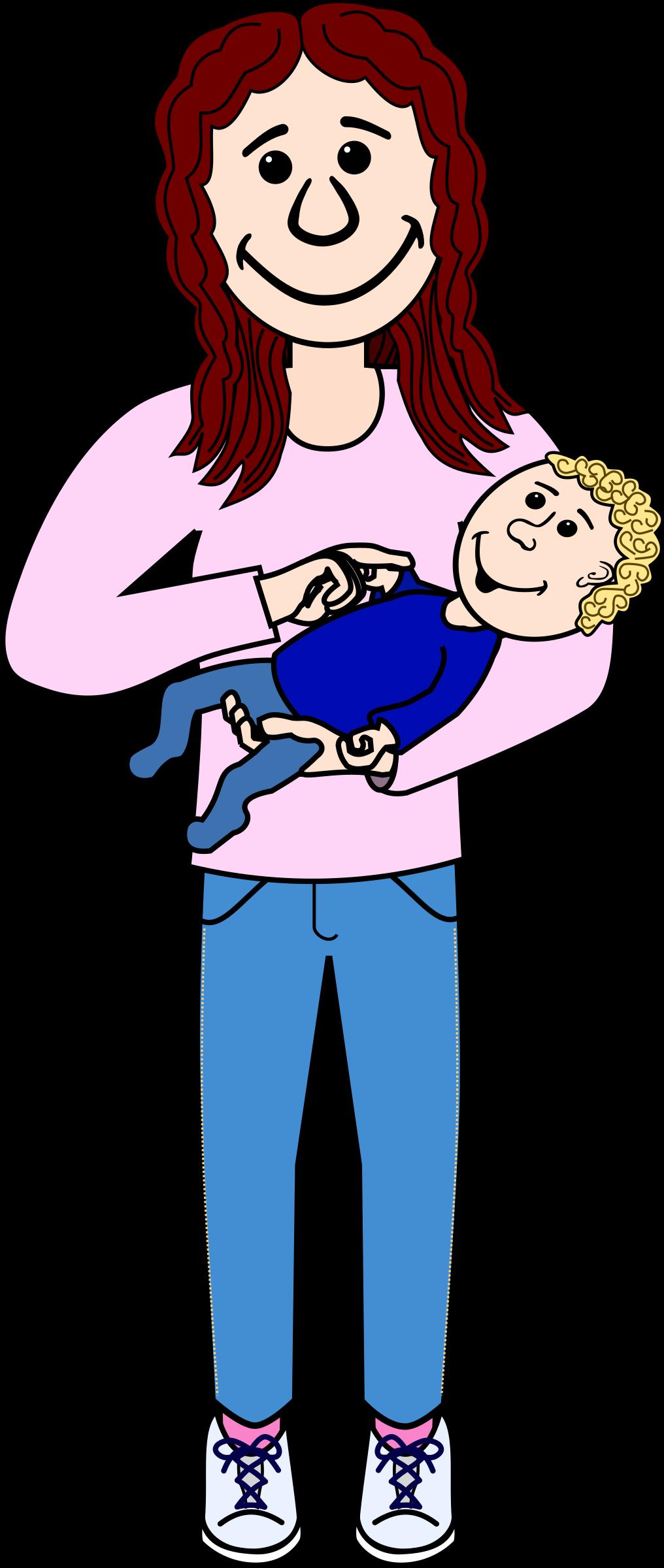 Mother with big image. Kind clipart kind child