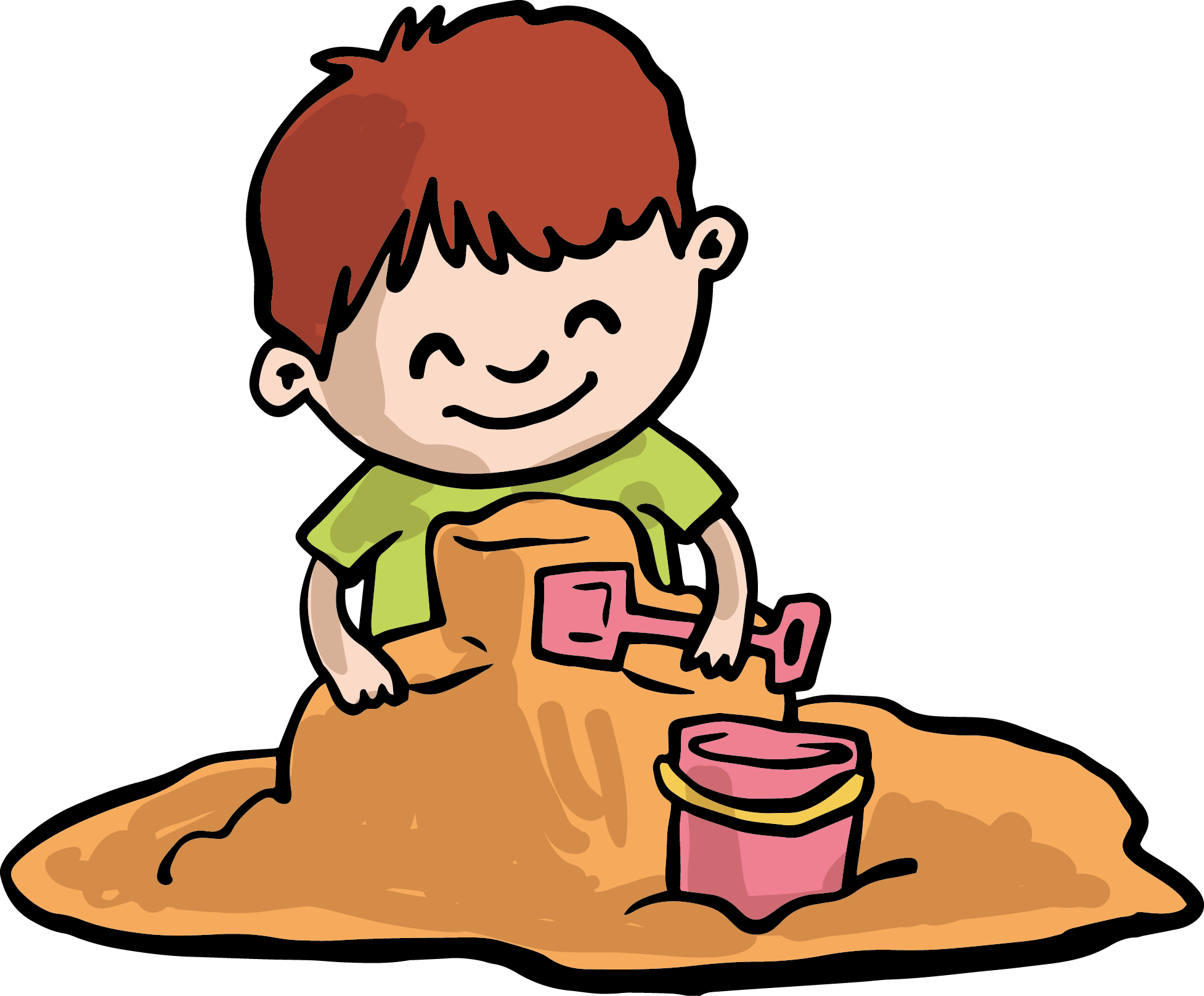 Sand play clip art. Gum clipart child