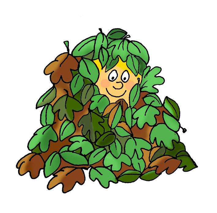 Autumn boy playing in. Winter clipart scenery