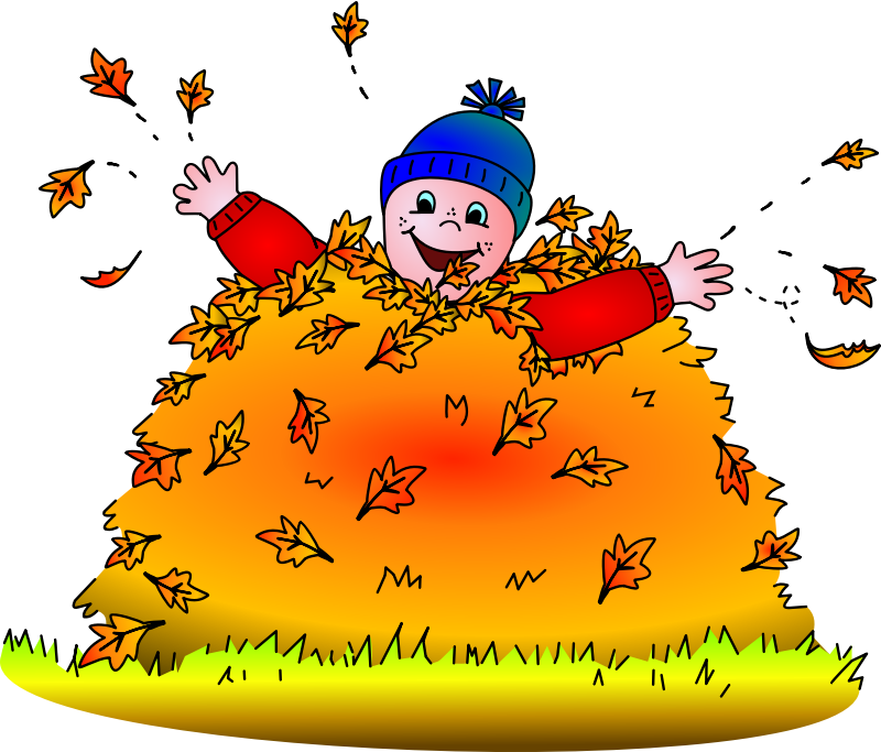Planning clipart parish council. Child in leaves colored