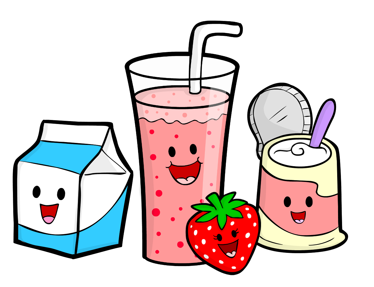 Draw clipart healthy child. Cartoon cooking smoothie recipe