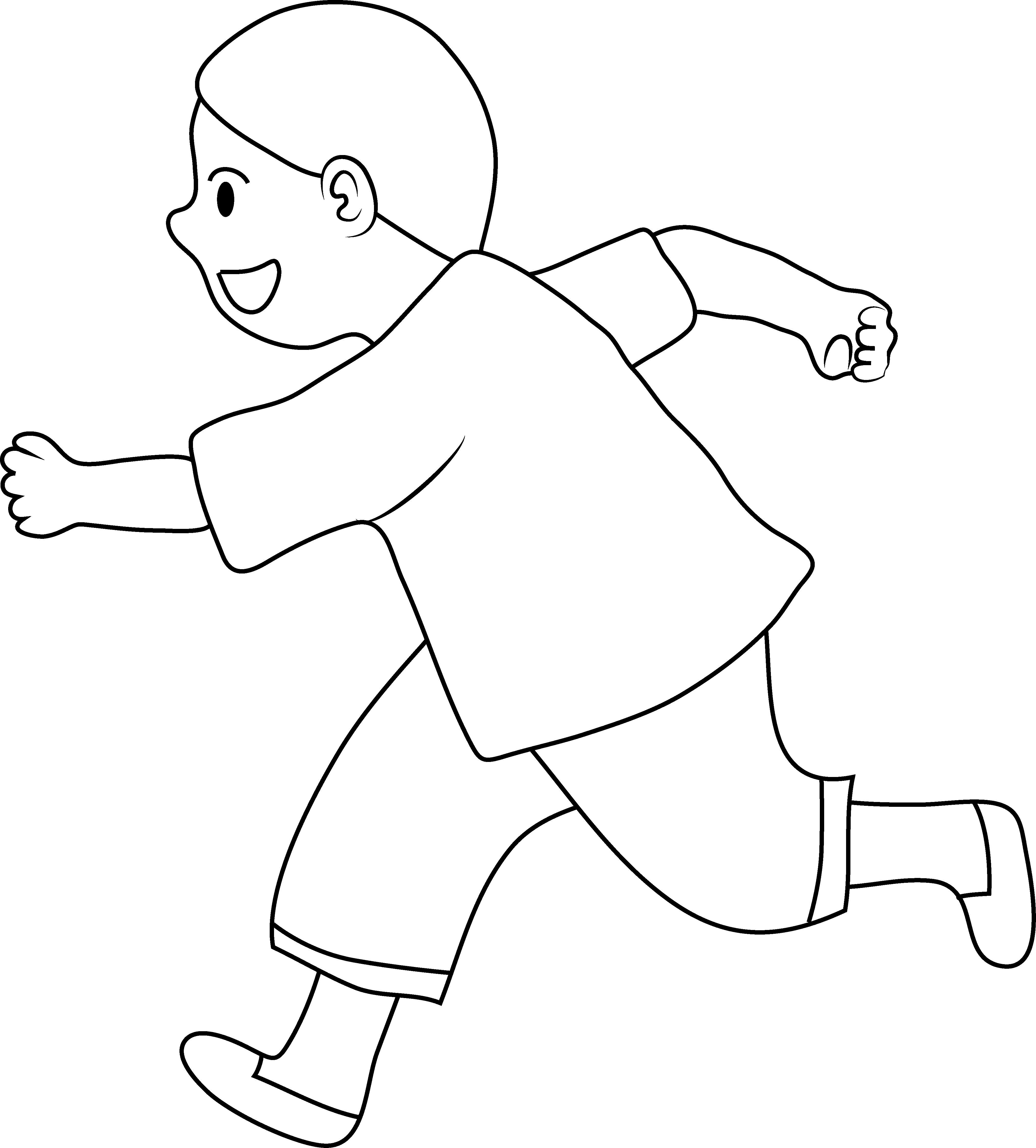 Line art of little. Race clipart athletic meet