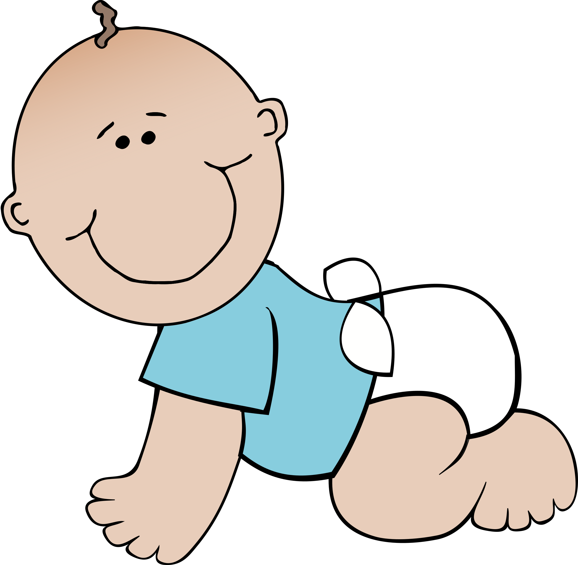 Boy crawling big image. Young clipart young baby