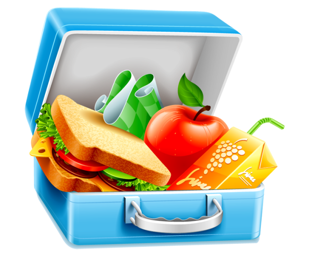 Packed lunch breakfast blt. Lunchbox clipart clip art