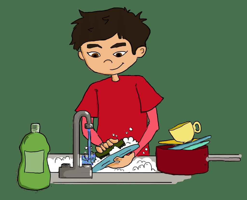 ways to teach. Clipart children cleaning
