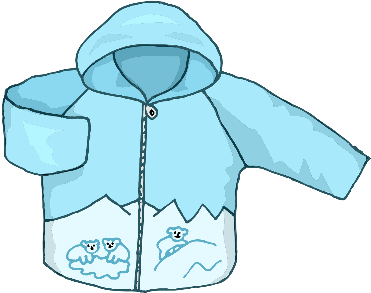 Coat great kids clip. Winter clipart jacket