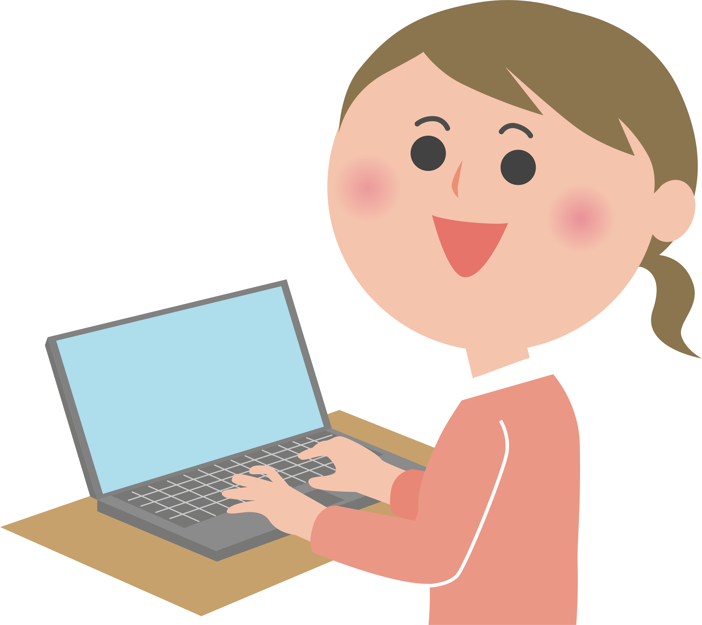 Clipart computer child. Female user big image