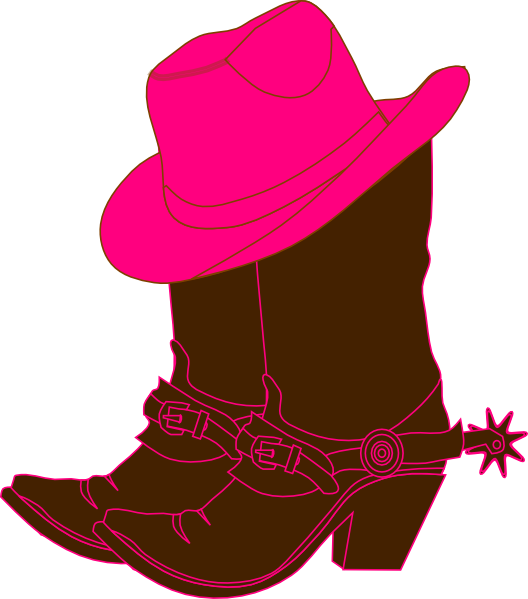Cowgirl clipart silhouette. Clip art free boots