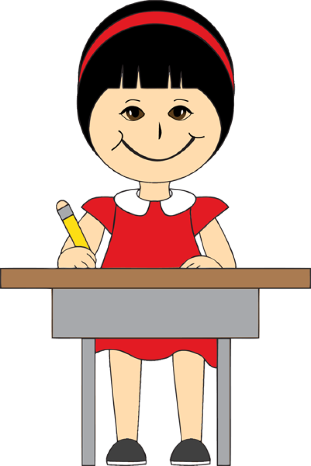 clipart children desk