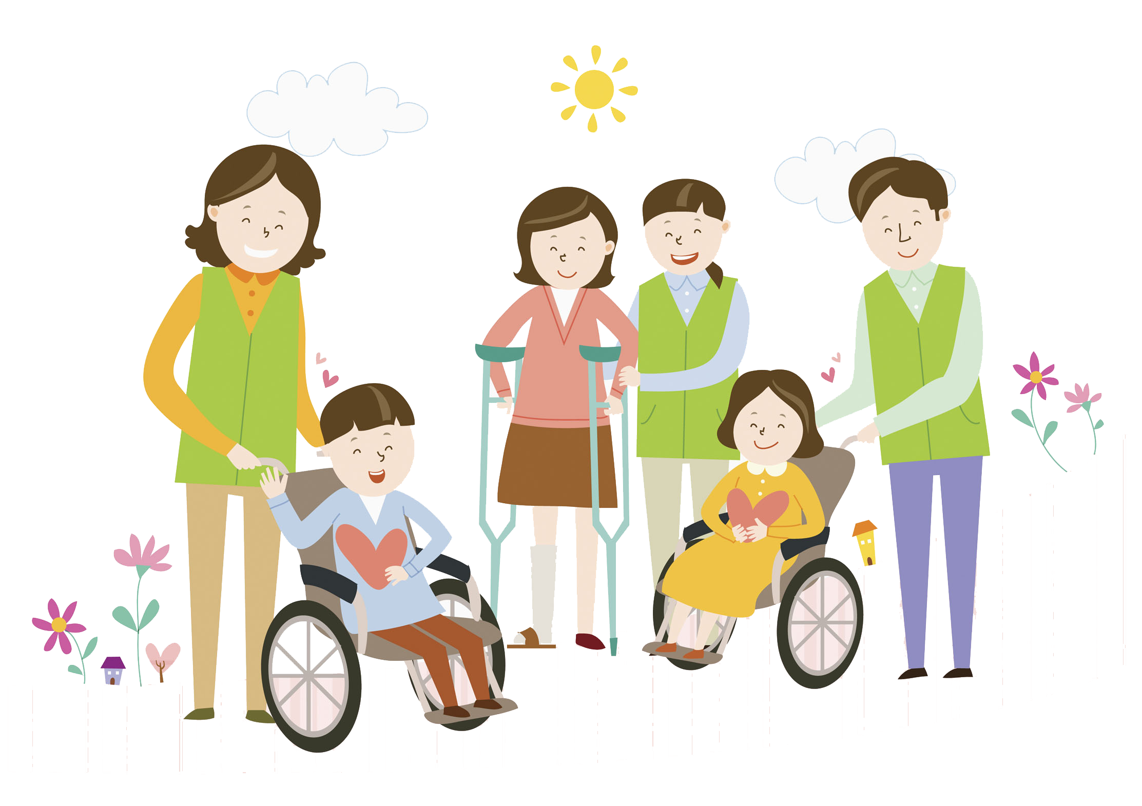Wheelchair disability independent living. Volunteering clipart children's