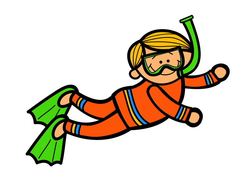 collection of kid. Diver clipart scooba