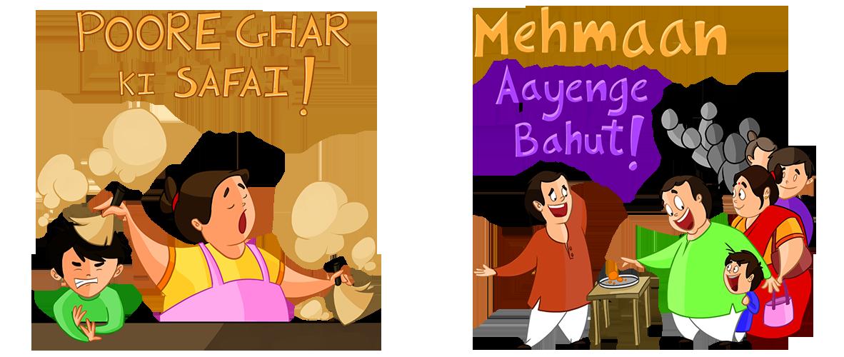 Sticker pack on behance. Clipart children diwali