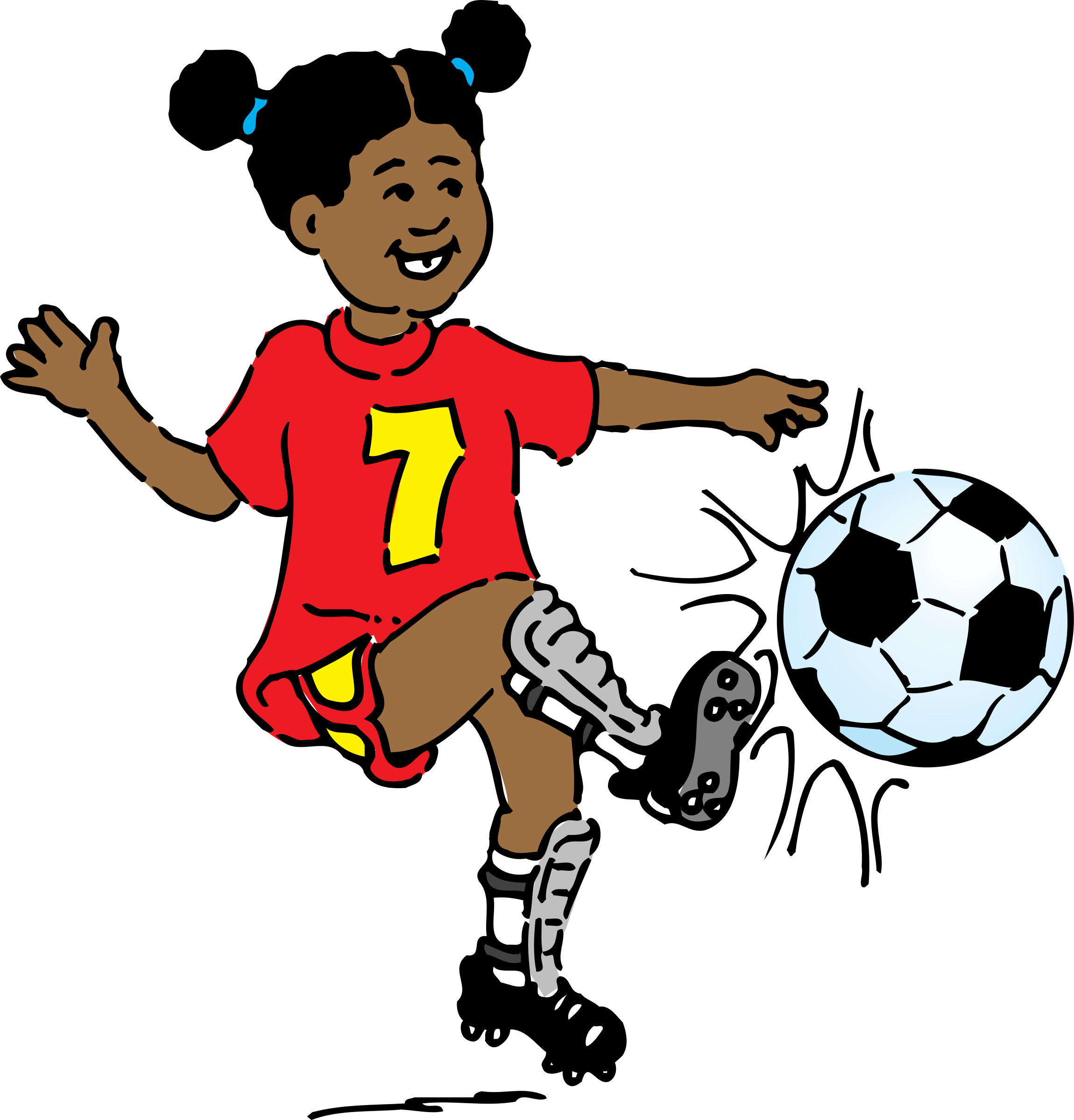 Person clipart sport. Girl playing soccer big
