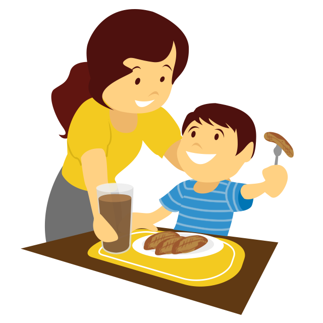 Clipart food kid. A day active lifestyle