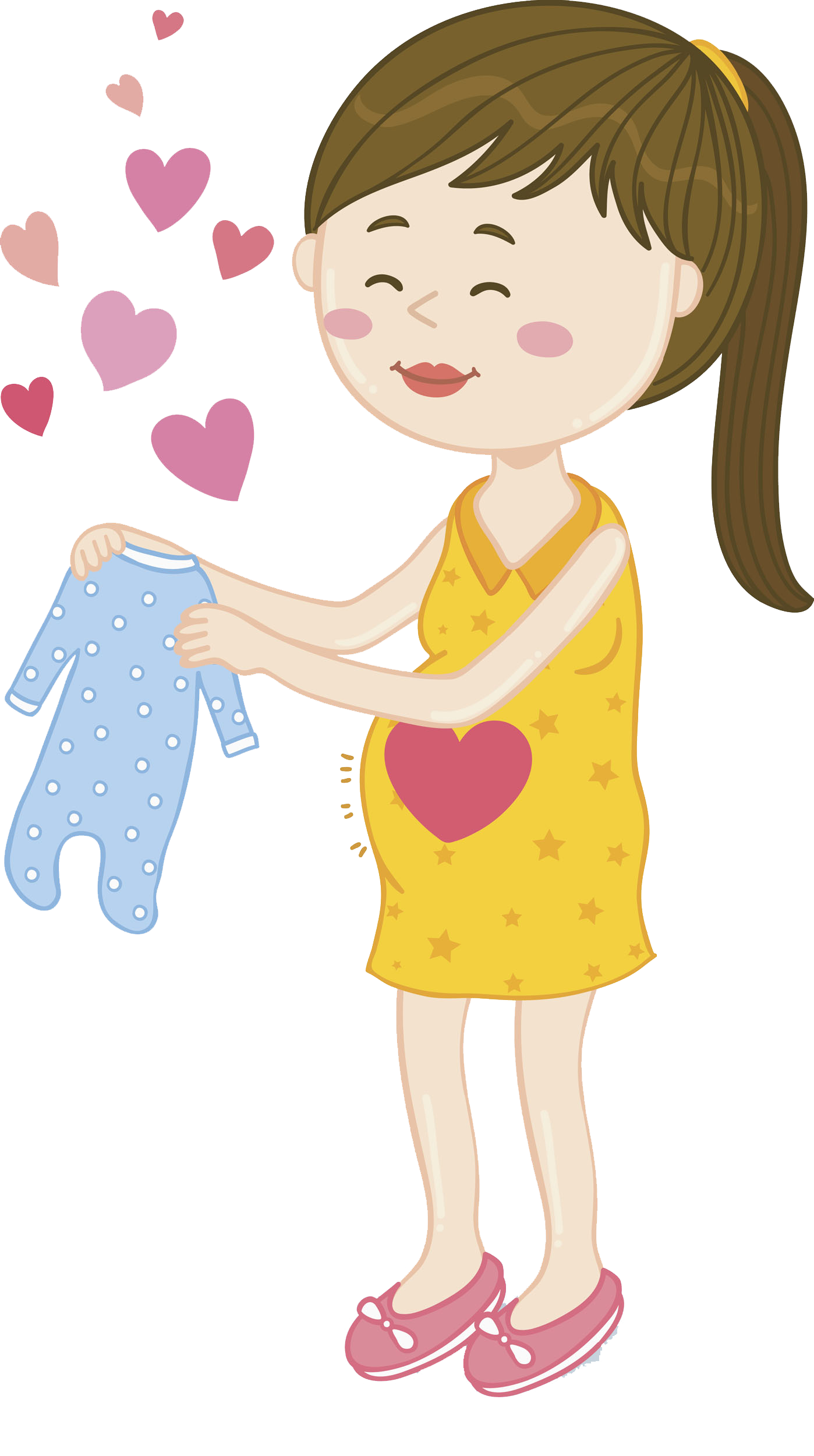 Infant clipart baby hair. Drawing pregnancy clip art