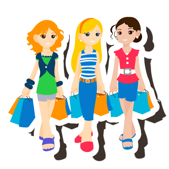 Lady clipart friends. The skout blog fashion