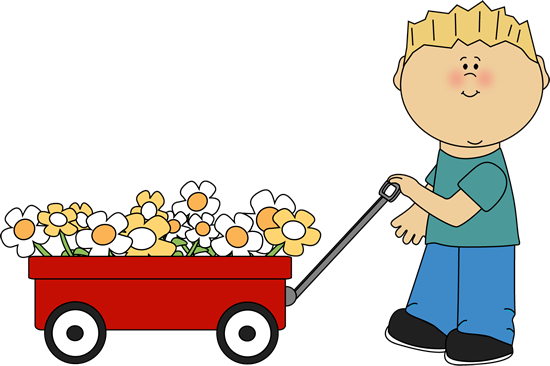 Free baby flowers cliparts. Wagon clipart w be for