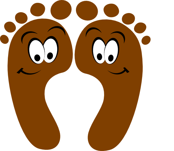 collection of feet. Clipart kids foot