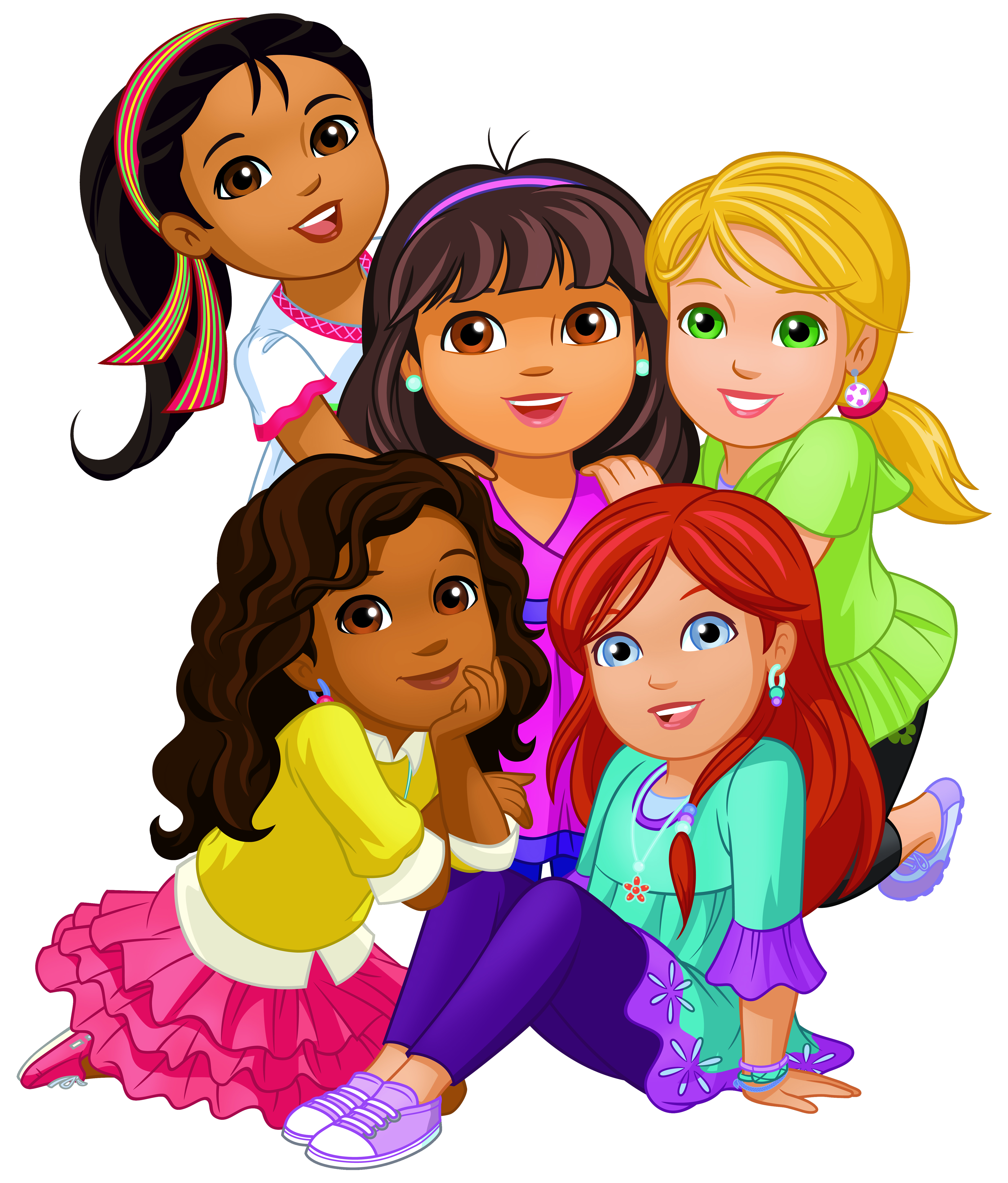 Dora and friends png. Friend clipart animated