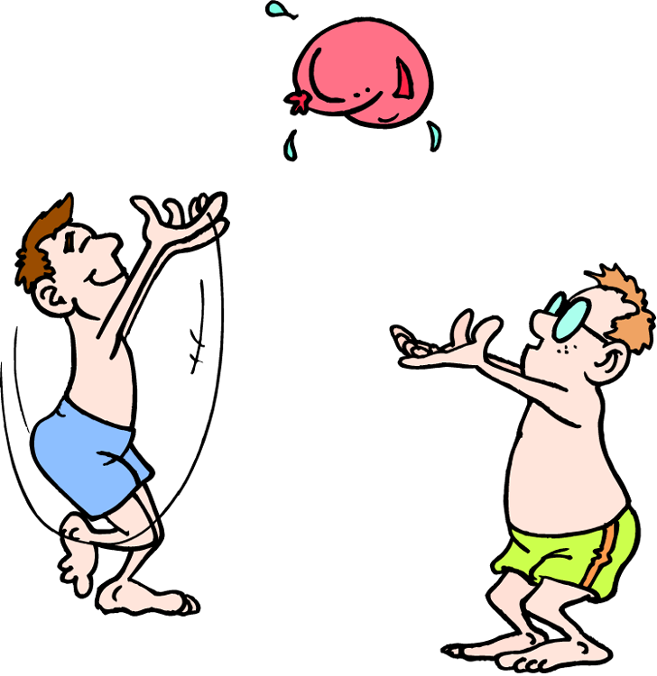 Fit and fun wild. Wet clipart wet child
