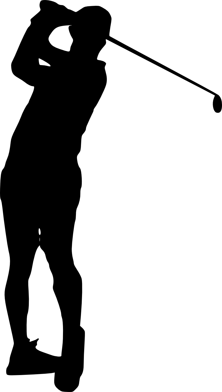 golfer clipart pitch