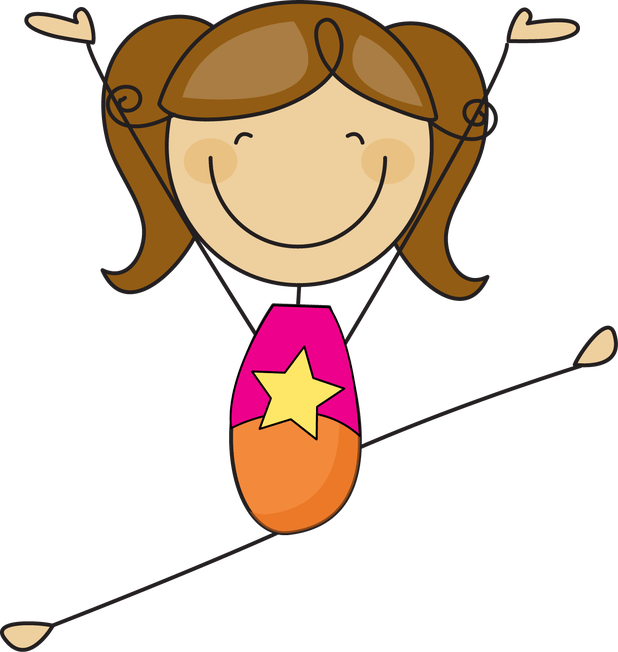 Girl clipart gymnastics. Free cartoon clip art