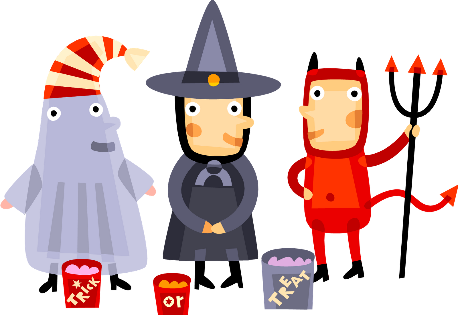 collection of kids. Festival clipart halloween