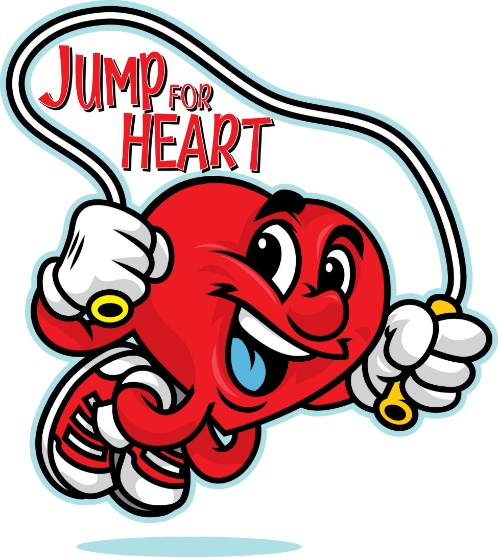 Jump for grace episcopal. Clipart heart rope